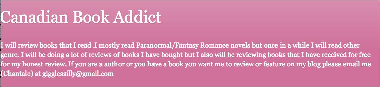 Canadian Book Addict