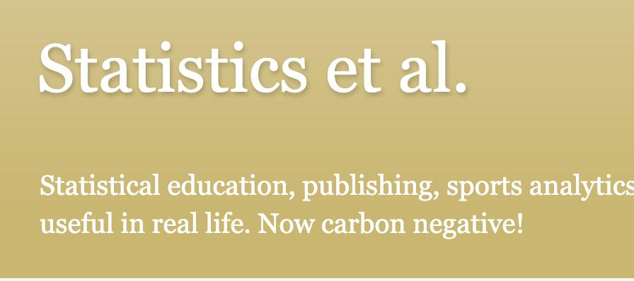 Statistics et al.