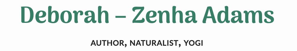 Deborah-Zenha Adams' blog